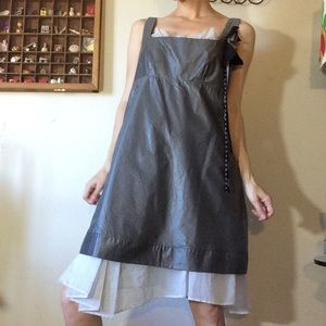 Cop. Copine Expensive! Grey Ruffle Dress